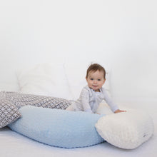 Load image into Gallery viewer, The Baby Blue Bubble Baby Buddy Nursing Pillow is Canada's favourite breastfeeding pillow! Made in Calgary, Alberta.