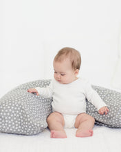 Load image into Gallery viewer, The Baby Buddy Nursing Pillow - Grey Daisy