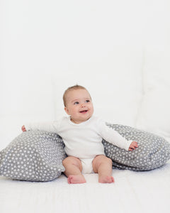 The Baby Buddy Nursing Pillow - Grey Daisy