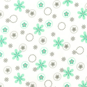 Flannel Pillowcase -  Mint Flowers