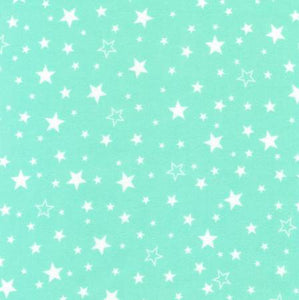 Flannel Pillowcase -  Mint Stars