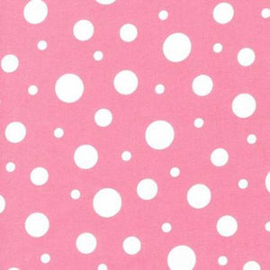Flannel Pillowcase - Pink Dots