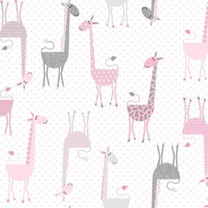 The Baby Buddy Nursing Pillow Pillowcase - Pink Giraffes