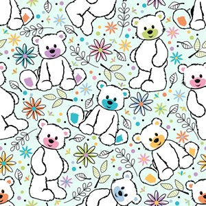 The Baby Buddy Nursing Pillow PIllowcase - Teddy Bears