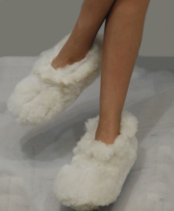 The Best Baby Alpaca Fur White Slippers