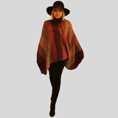 Alpaca Earth Poncho