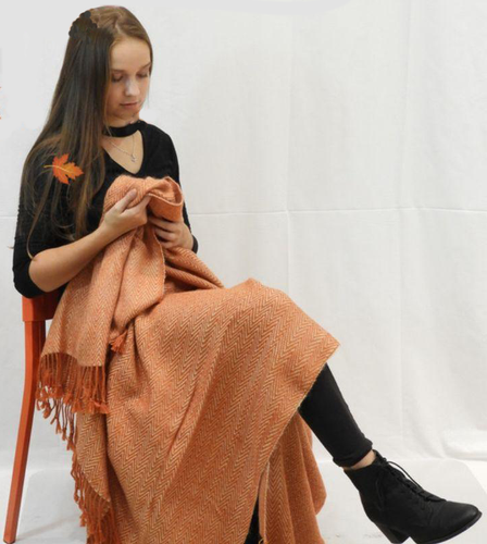 SOLD OUT Alpaca Knit Blanket Handmade