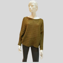 Load image into Gallery viewer, Alpaca Ribbed Bat Sweater