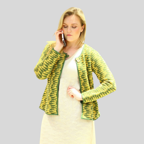SOLD OUT Alpaca Short Cardigan Jacquard