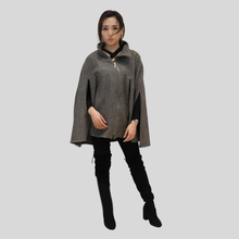Load image into Gallery viewer, Asymmetrical Zipper Poncho