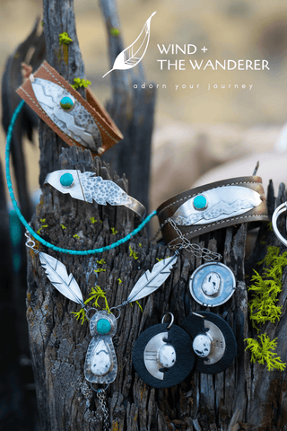 leather silver turquoise jewelry