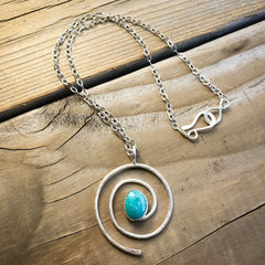 turquoise spiral necklace