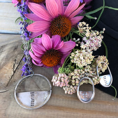 echinacea silver necklace