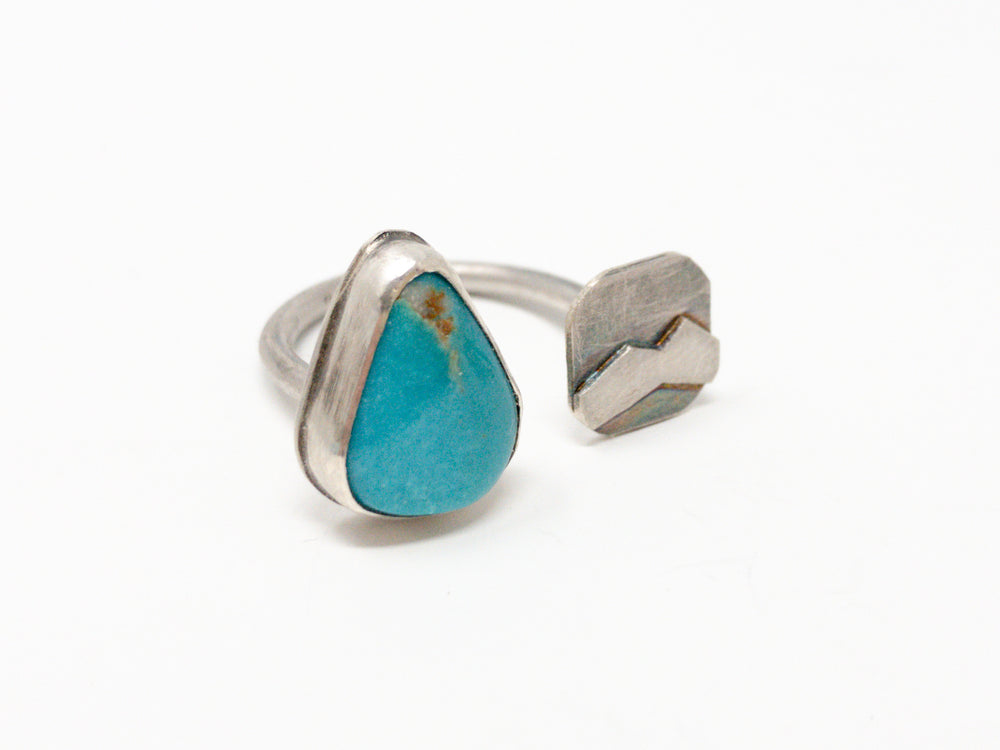 Turquoise + Mountain Gap Silver Ring