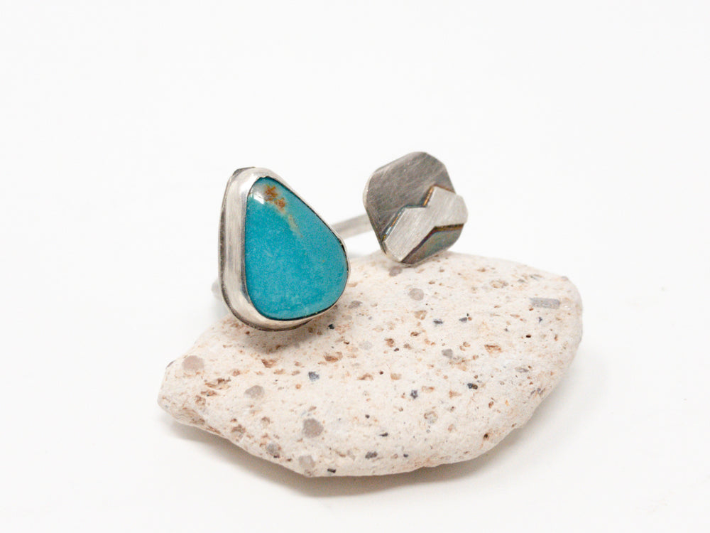 Turquoise + Mountain Gap Silver Ring [Customize]