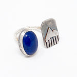 Lapis + Mountain Gap Silver Ring