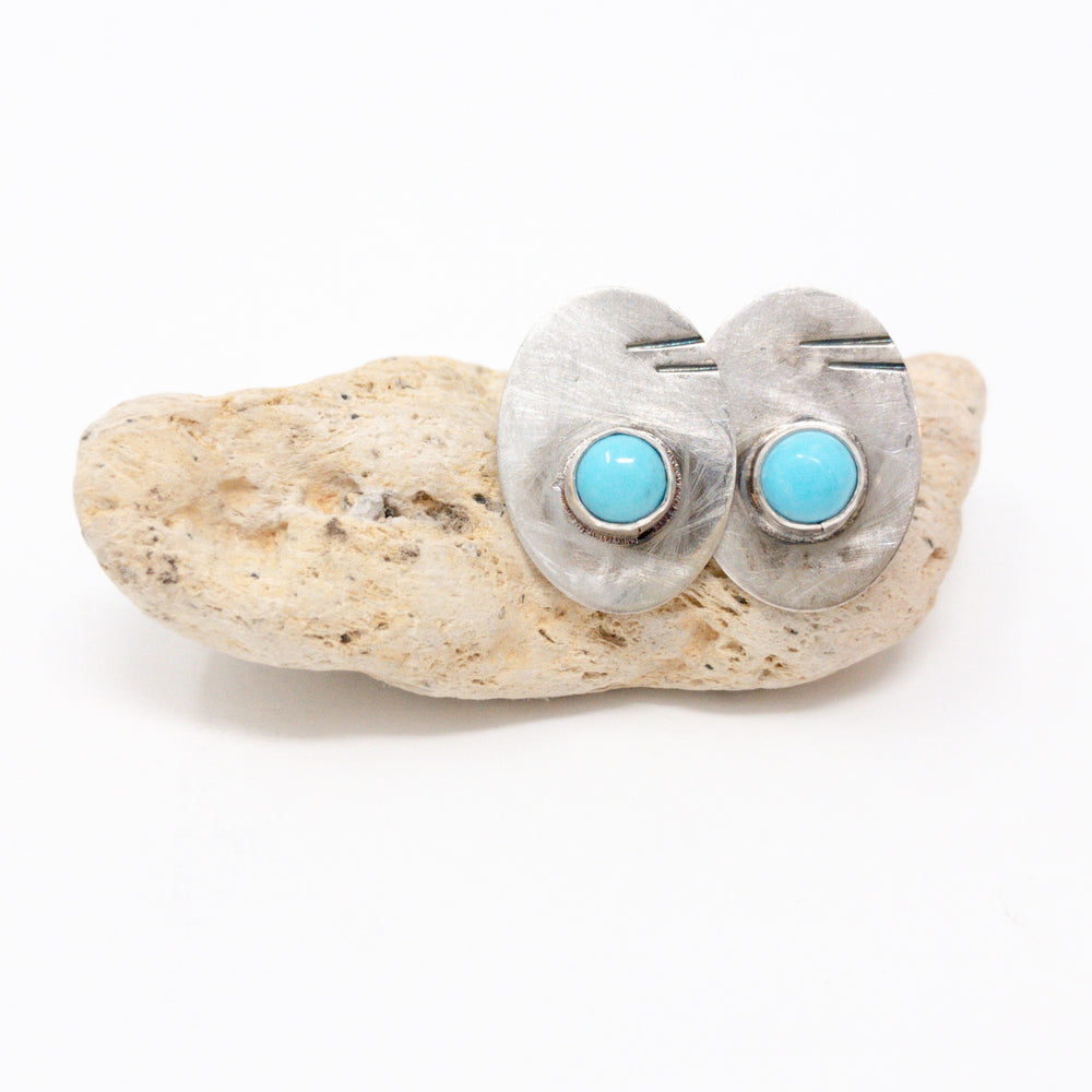 Turquoise Rays Studs - No. 2