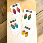 Little Feather Leather Earrings