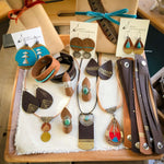 leather mixed-metal jewelry southwestern