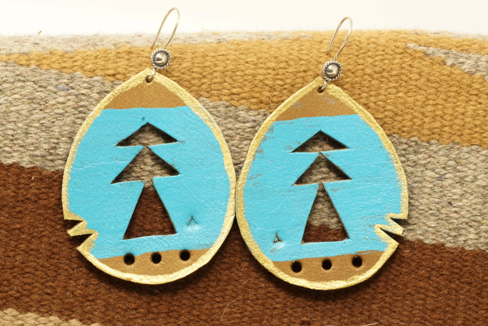 Turquoise Ponderosa Statement Earrings