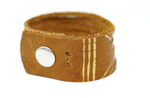Chevron Leather Cuff Bracelet- Brown