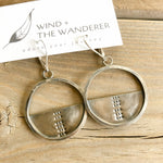 Stamped Hoop Earrings - Circle