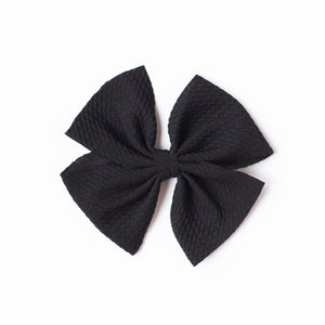 BLACK NYLON BUTTERFLY BOW