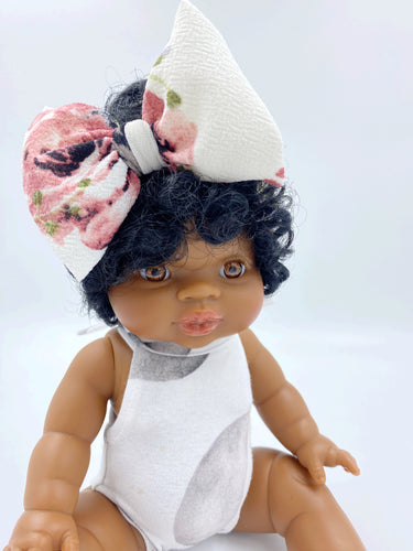 DOLL HEADWRAP FLORALS