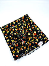 Load image into Gallery viewer, WILDFLOWERS BLACK SWADDLE SET