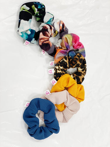 FUN PRINTS AND NEW COLORS TODDLER  SCRUNCHIES