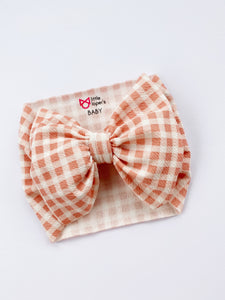 PEACHY PINK GINGHAM