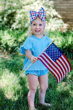 Load image into Gallery viewer, RED WHITE BLUE GINGHAM