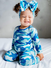 Load image into Gallery viewer, Print Long Sleeve Pajama Set (Oasis Military)