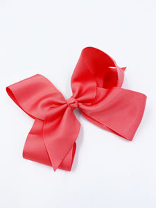 NUDE NYLON RIBBON BOW 6 INCH