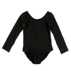 Solid Long Sleeve Performance Jersey Leotard (Midnight)