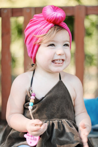 LITTLE LOPERS VELVET TURBAN