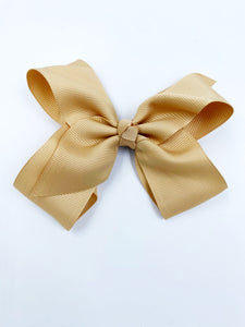 BLACK NYLON RIBBON BOW 4  INCH