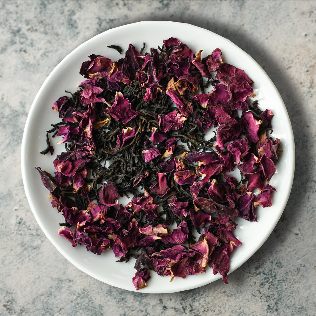 The Midnight Rose | Black Tea with Rose Petals  – The Country House Co.
