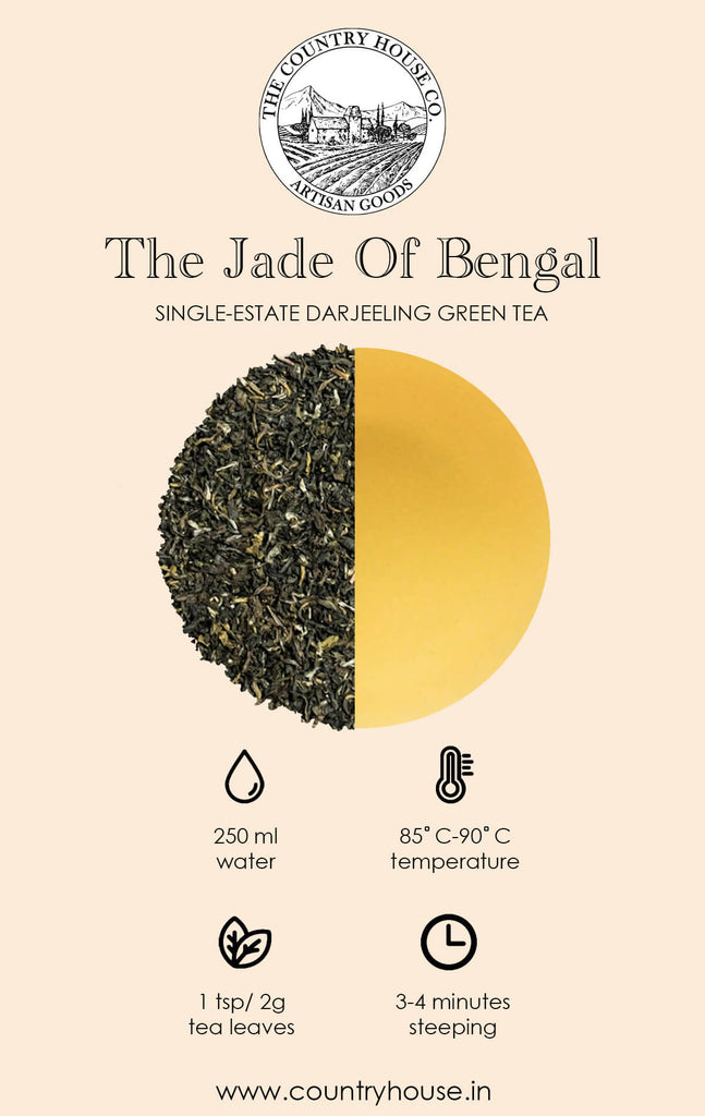 The Jade of Bengal | Single-Estate Darjeeling Green Tea  – The Country House Co.