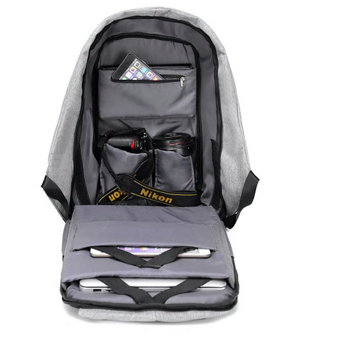 Image of Anti-Theft Backpack  With USB Charging Port