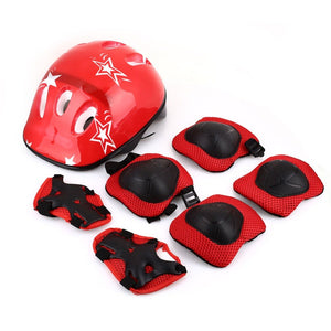 Kids Knee Pads, Elbow Pads, and Wrist Guards with Helmet for Biking, Skateboarding and Other Outdoor Activities