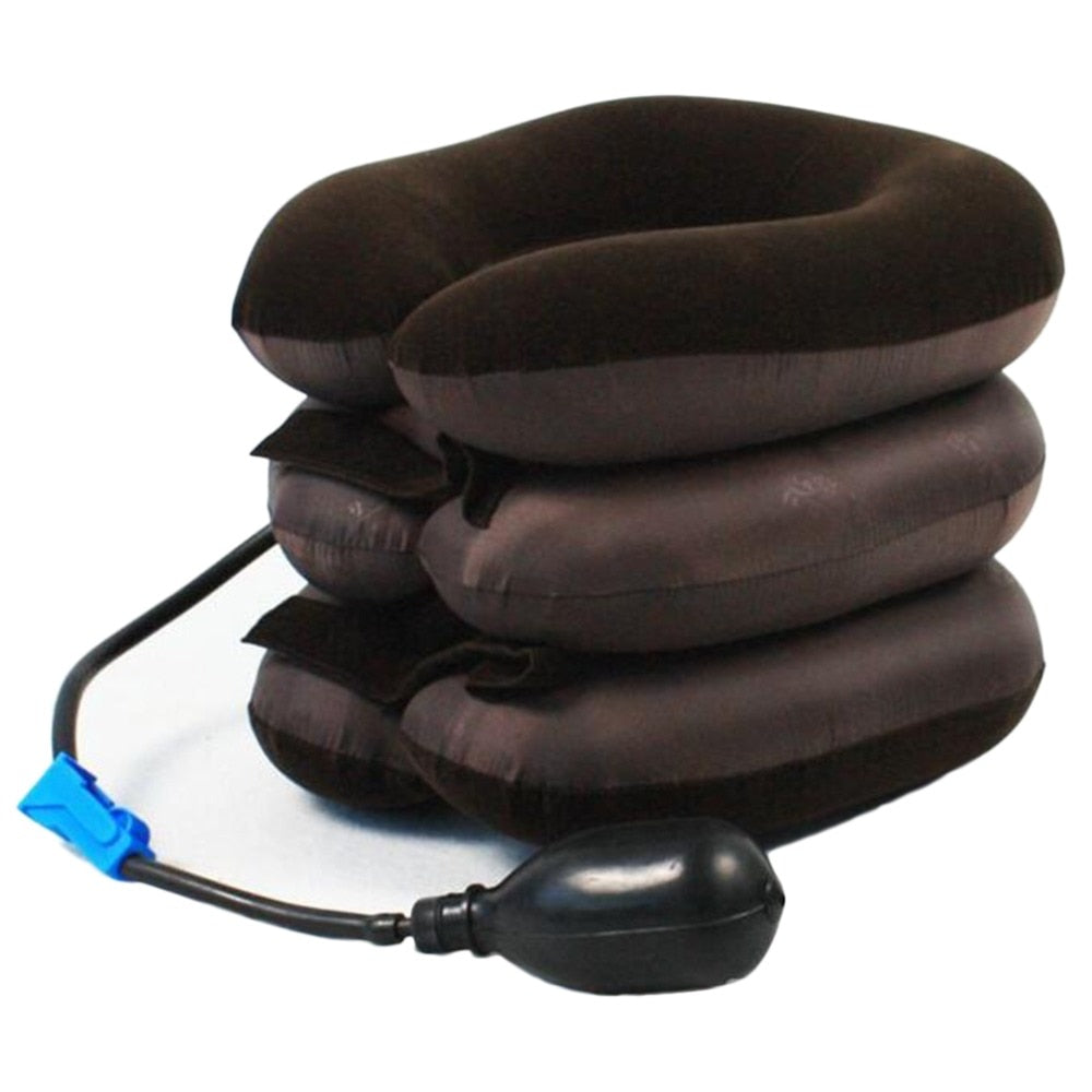 Adjustable Neck Traction Massager for Spine Alignment and Chronic Pain Relief