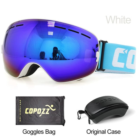 Image of Ski and Snowboard Goggles for Men and Women With 100% UV Protection and Anti-Fog Technology