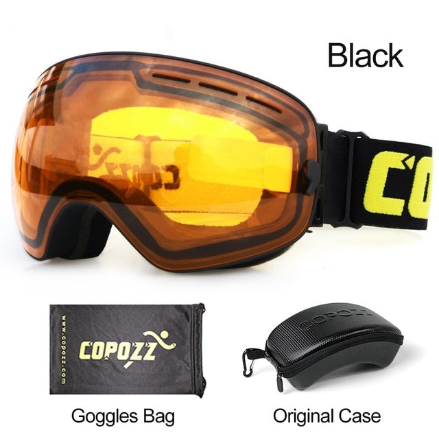 Ski and Snowboard Goggles for Men and Women With 100% UV Protection and Anti-Fog Technology