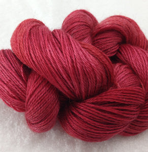 The Alpaca Yarn Company's Mariquita Hand Dyed Yarn in Candy Apple #556