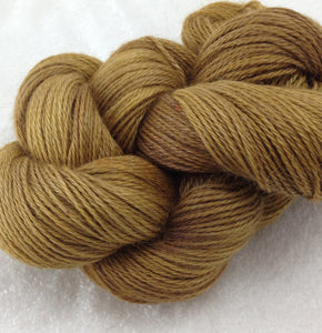 The Alpaca Yarn Company's Mariquita Hand Dyed Yarn in Winter Wheat #557