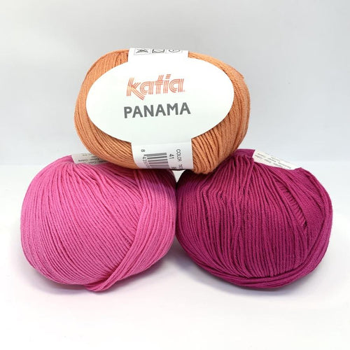 Katia Panama 100% Cotton Yarn, group of 3