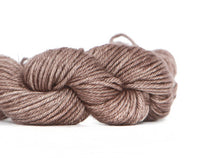 Load image into Gallery viewer, Nurturing Fibres. SuperTwist DK Yarn. 100% Merino Wool. Aged Leather.