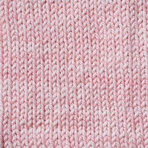 Sweet Georgia Flaxen Silk Fine, Knitted swatch in Apricot
