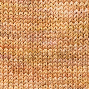 Sweet Georgia Flaxen Silk Fine, Knitted swatch in Biscuit